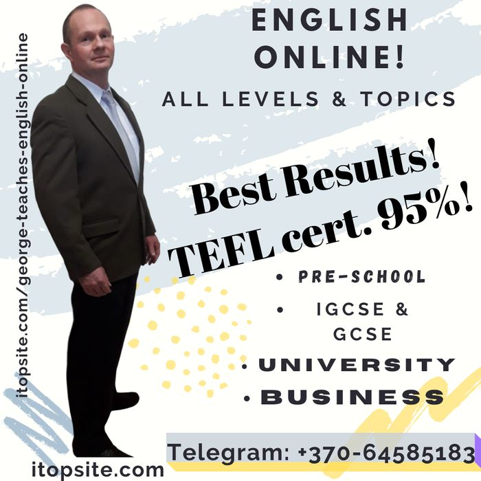 George is a top online teacher in English, Law, Web Design and Social Media Marketing grey background